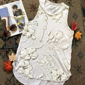 Chaser Floral Muscle tee tank top